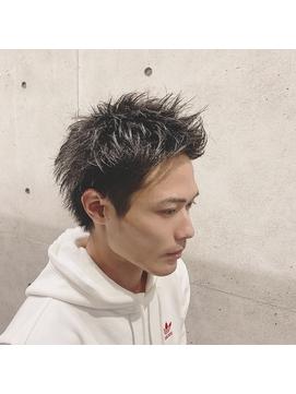 爽やかツーブロック【アッシュベージュ】短髪×アップバング