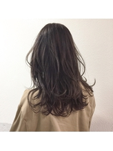 ラベンダーアッシュ×3Dカラー無造作フェザーロング【心斎橋】.27