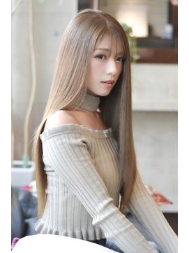 【テクライズ名駅】艶髪☆美ストレート☆透明感くすみベージュ