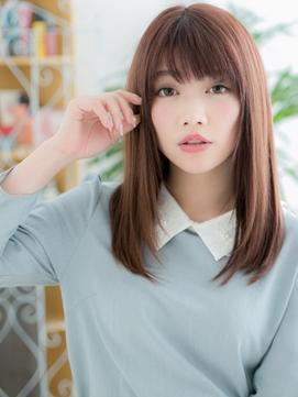 おおたかの森/髪質改善/ピンクブラウンのツヤ髪ストレートa