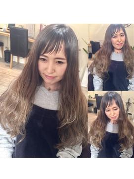 前髪ギザギザバングスタイル