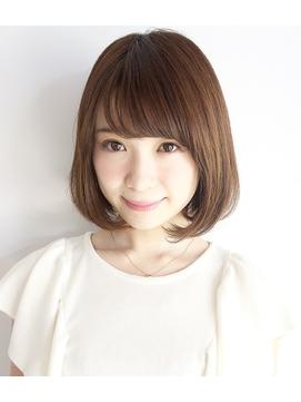 流し前髪 ナチュラルボブ 艶髪 イルミナカラー☆