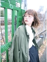 【DECO】シースルーバング×切りっぱなしクールボブ 時短.14
