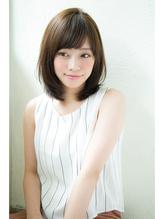 【Un ami】小顔ワンサイド・フリンジバング ミディー 松井 OL.20
