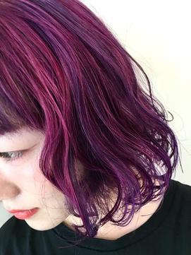 ハイトーンネオンカラー★ピンク × バイオレット