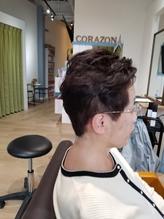 【モードヘア3Dカラージグザグバングミニマムボブボルドー】57.12