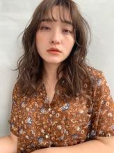 【GARDEN武田美奈】柔らかいベージュカラーシースルーバング.53