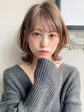 エアリーミディ フェザーバング くびれヘア  ショコラベージュ☆
