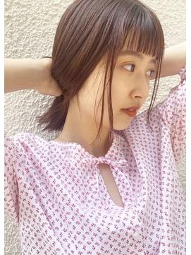 【peonyはまひ】艶感カラー・前髪と顔まわりカット☆福岡/西新