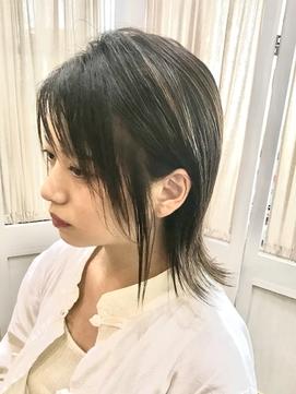 【コトノハ】涼しげヘアくすみカラー小顔 ロングウルフ髪質改善