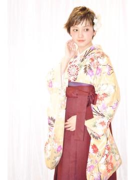 阿佐ヶ谷 Neolive citta 卒業式 袴着付け+ショートアレンジ