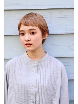 kisaiBUZZ*西川史浩  ピンクベージュ×美ショートボブ