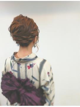 和装のヘアセット★大人の浴衣アップスタイル3
