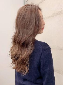 ハイライト ミルクティーベージュ シアーカラー モテ髪カタログ