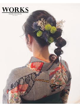 卒業式 着物 袴ヘアセット
