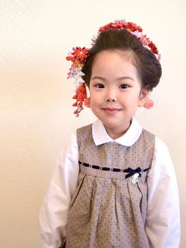 新日本髪でかわいさマックスな七五三ヘア!