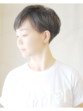 【L`atelier Content miho】ツーブロック×マッシュ黒髪ショート