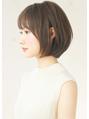 大人の耳掛けボブ☆柔らかカラーで透明感のあるスタイルに!