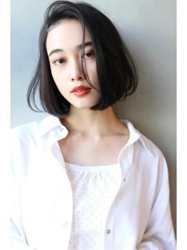 【Blanc/浜松】丸みショート/黒髪ベリーショート/ボブr