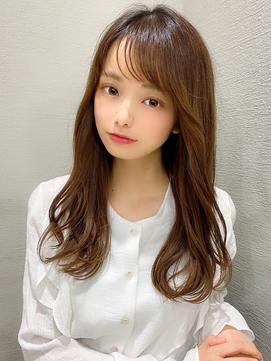 大人可愛い/前髪/ラベンダーカラー/イメチェン/小顔/韓国ヘア