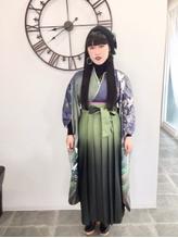 横浜市戸塚駅 卒業式袴着付け&ヘアセット.17