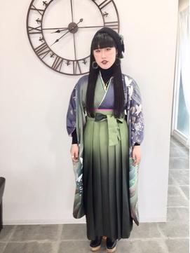 横浜市戸塚駅 卒業式袴着付け&ヘアセット