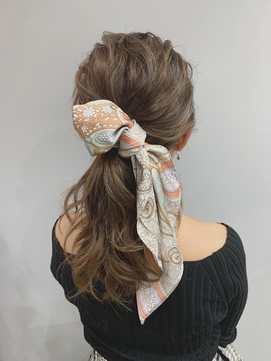 【代官山LAIDBACK】スカーフアレンジ
