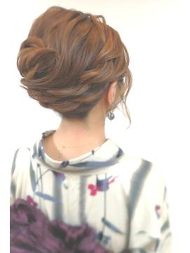 和装のヘアセット★大人の浴衣アップスタイル2