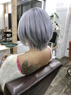 【Lilly渋谷】#シルバーアッシュ #ホワイト #ショートレイヤー