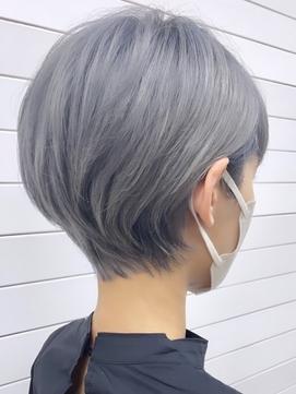 くびれショートイメチェン×似合わせ前髪×ラベンダーカラー
