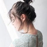 お団子ヘアは結ぶ位置で印象変化を♡低め・高め・ハーフアップのアレンジ紹介!