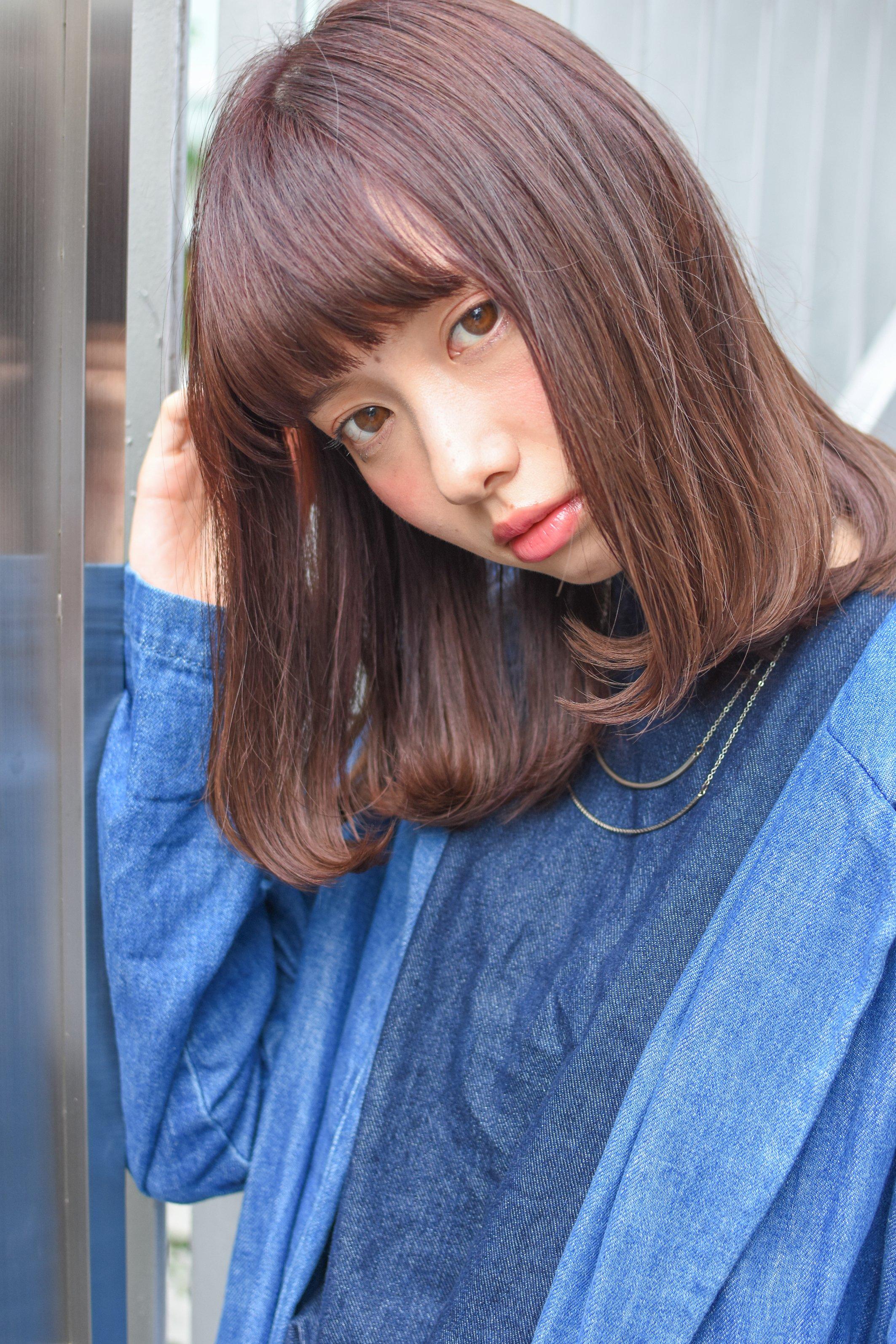 前髪パッツンで女の子らしく♡【レングス別】オシャレなヘアスタイルカタログ