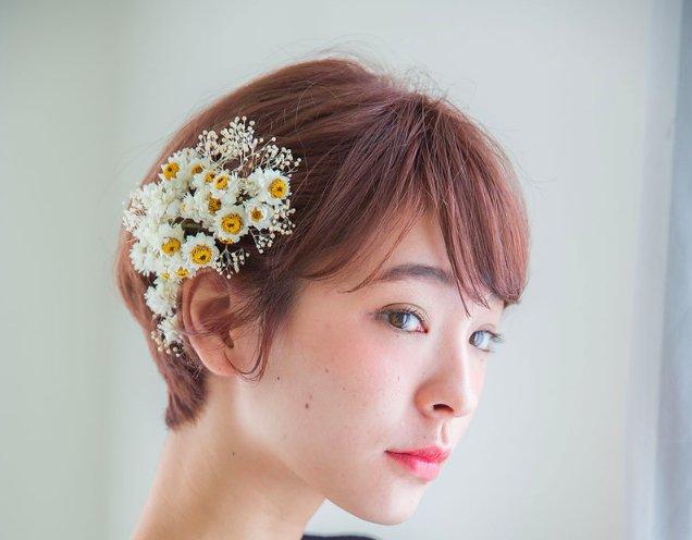 結婚式の華やかなショートヘアアレンジ♡真似したくなるおしゃれアレンジ20選
