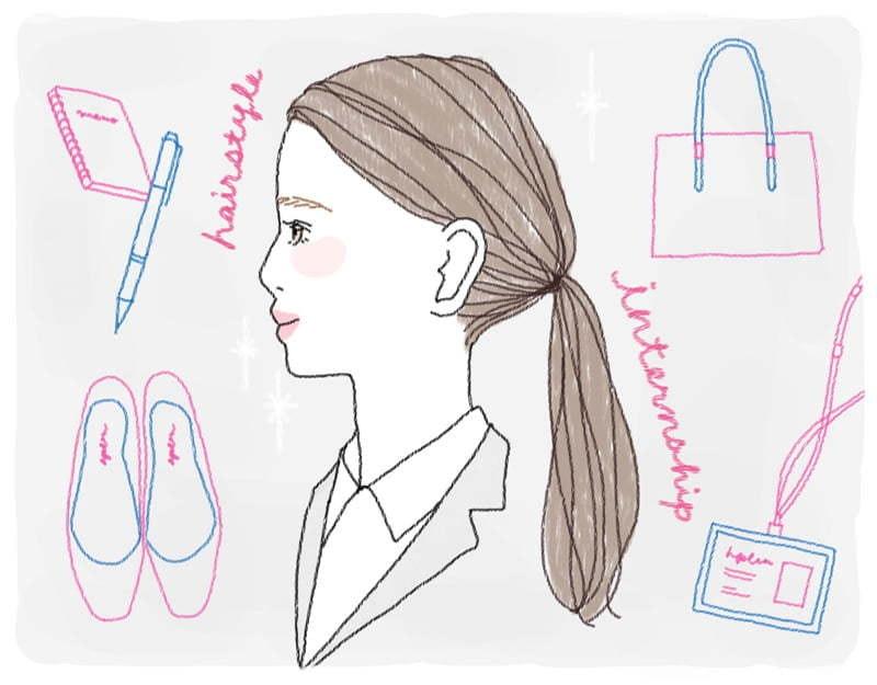 インターンに参加する際の髪型は?就活で好印象を残す髪色・前髪も解説のサムネイル画像