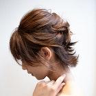 ショートヘアアレンジ/伸ばしかけヘアアレンジ/ルーズツイスト