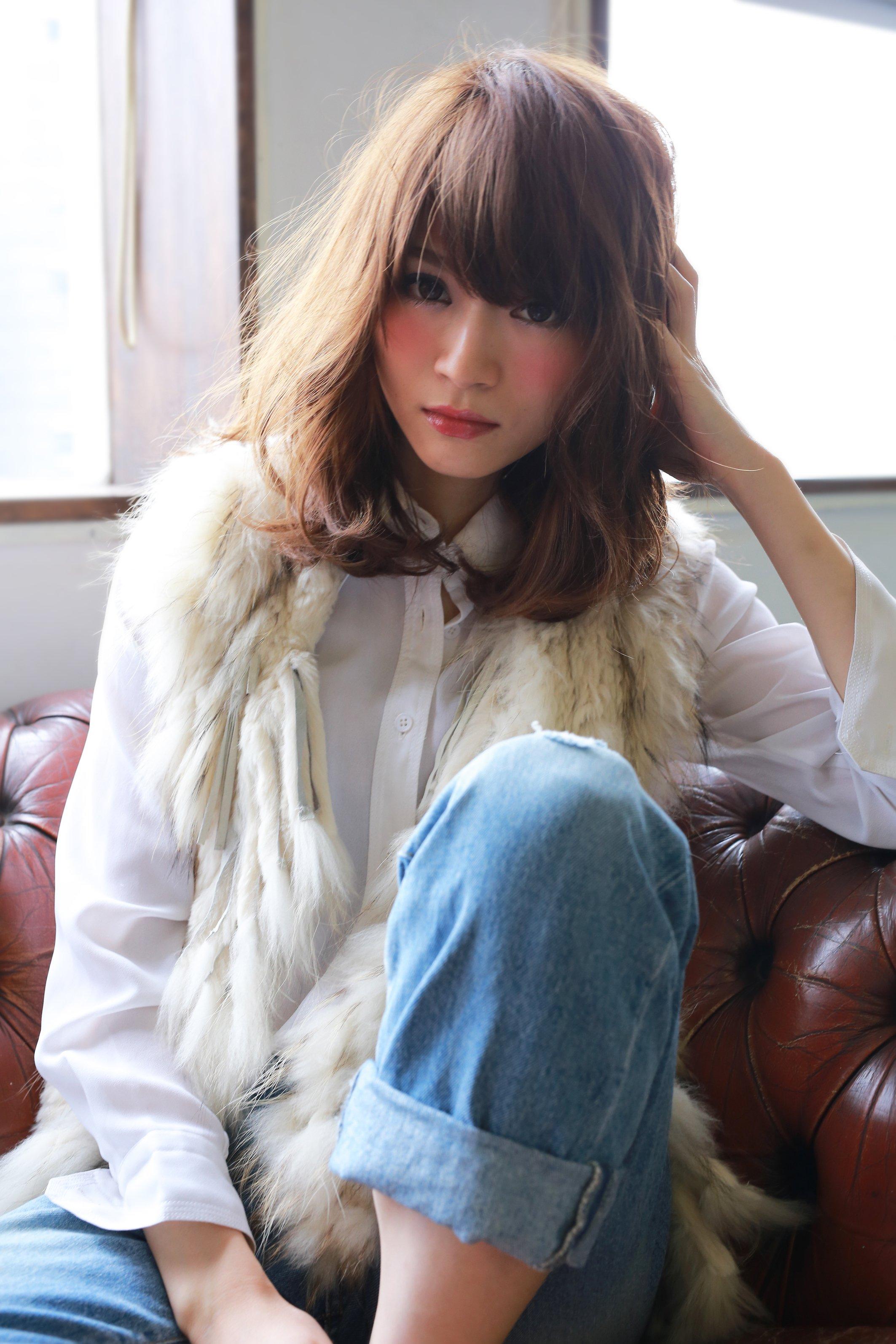 ★sCene★大人かわいいワンカールミディアムヘア〜