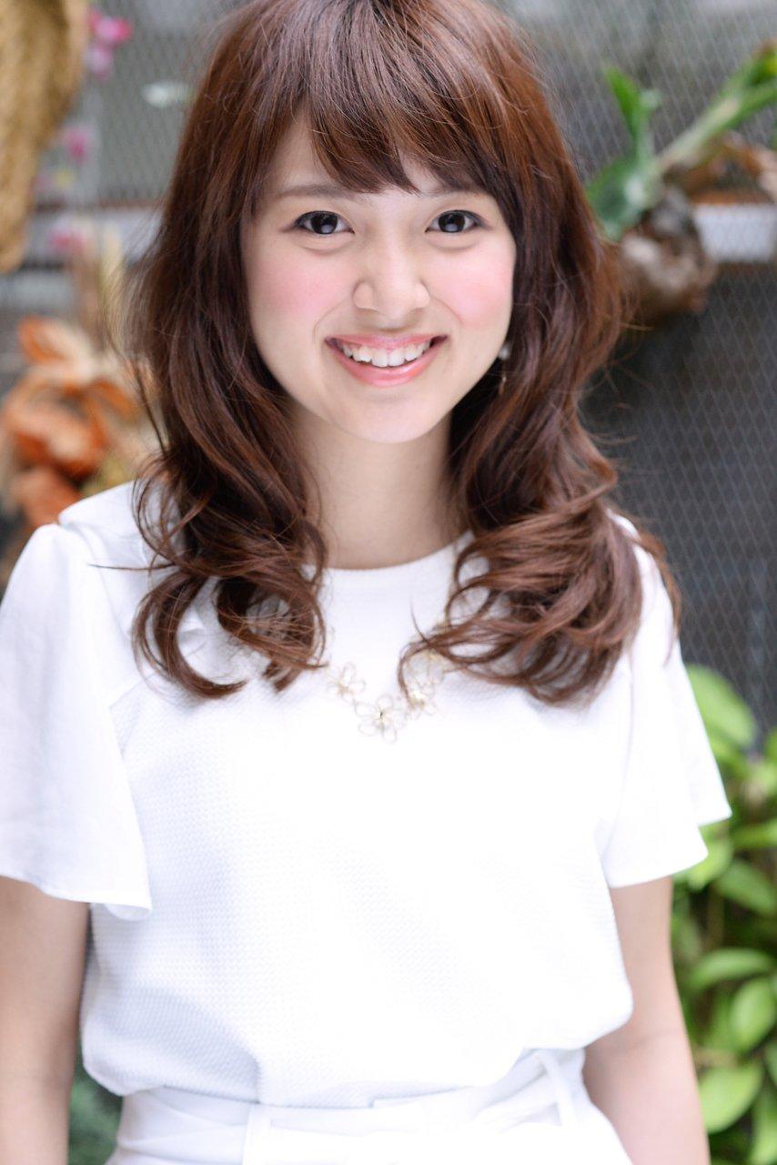KOCHAB平田☆シースルーバングのニュアンスカールセミディ☆