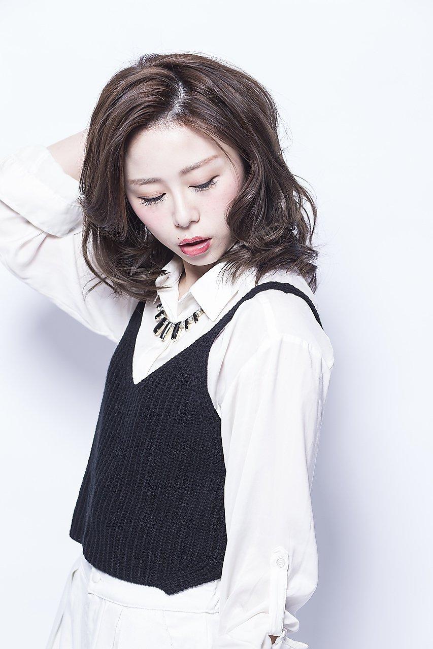 【mielhair渋谷】アッシュグレージュでおフェロなミディ