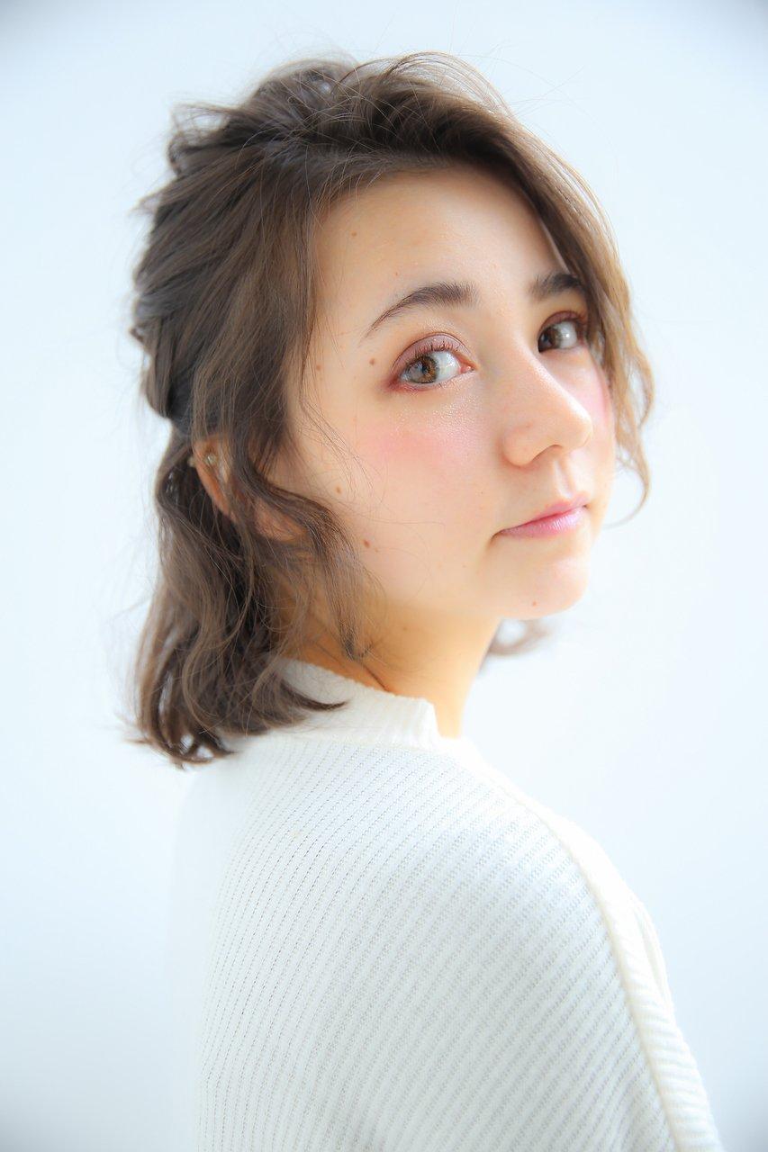 【Lilou】大人かわいい ハーフアップ アレンジ パーティ