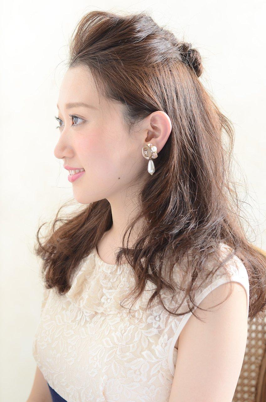 『SHARE』☆簡単!可愛い+*オールバックリボンハーフアレンジ☆