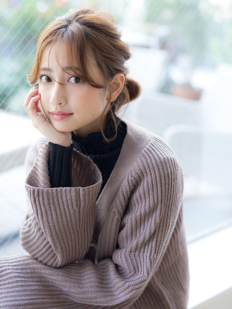 【若井】編み込みシニヨンアレンジ