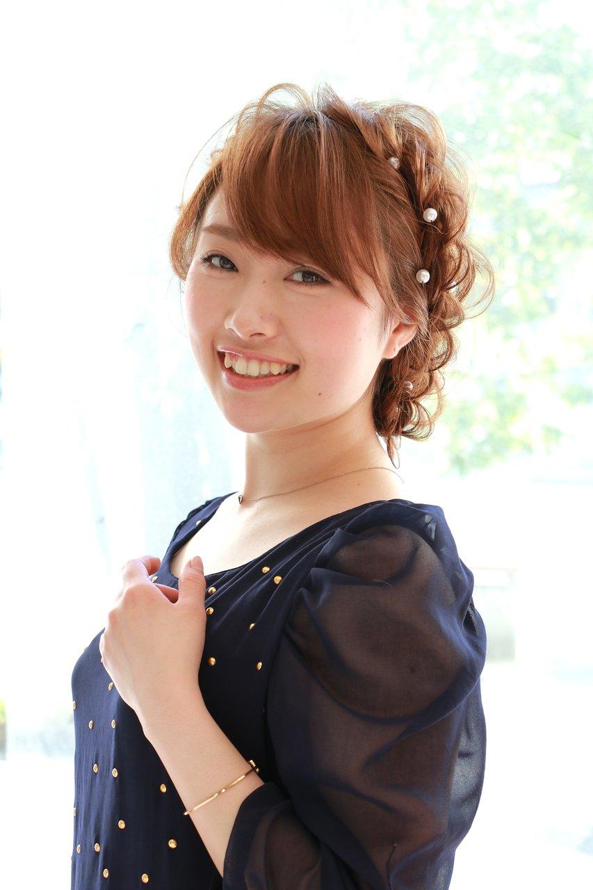 ふわふわ編み込みアップスタイル M.SLASH藤沢