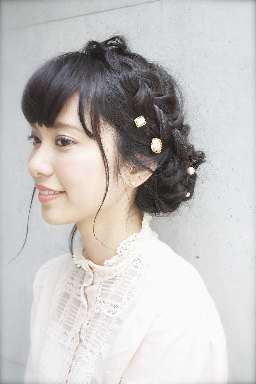 *結婚式・パーティ*編み込みヘアアレンジ【LDK hair salon】