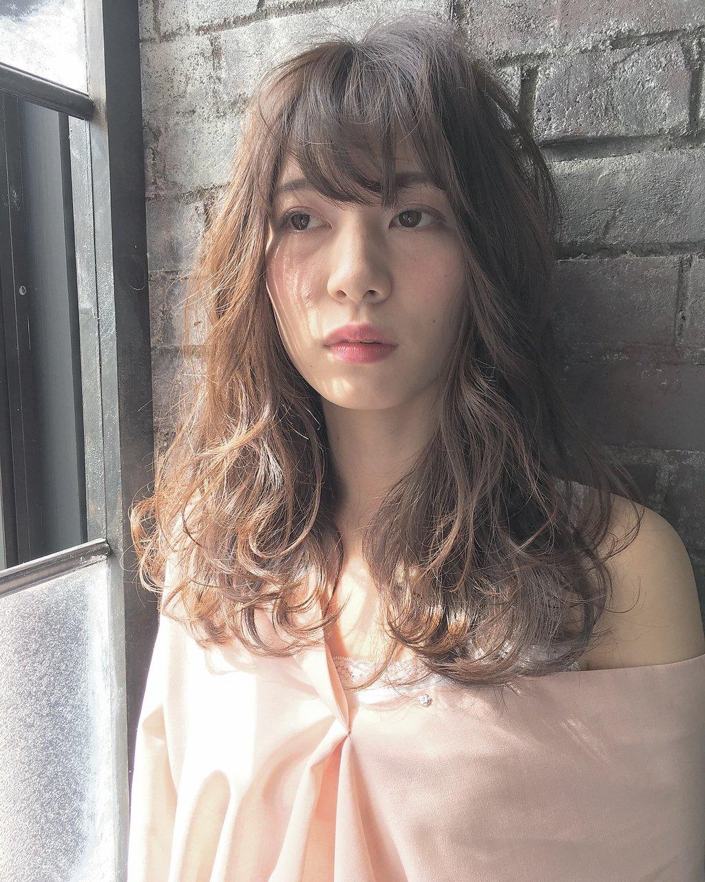 【No.06HWS】小野寺 フォギーベージュ×アンニュイセミロング