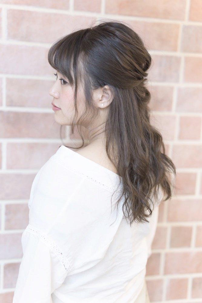 波ウェーブゆるかわハーフアップ(バック)【U-REALM谷垣】