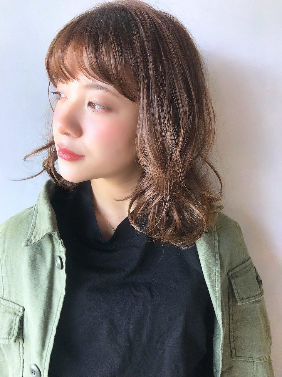 【unami】ラフカール×やわらかベージュカラー☆澤田杏奈