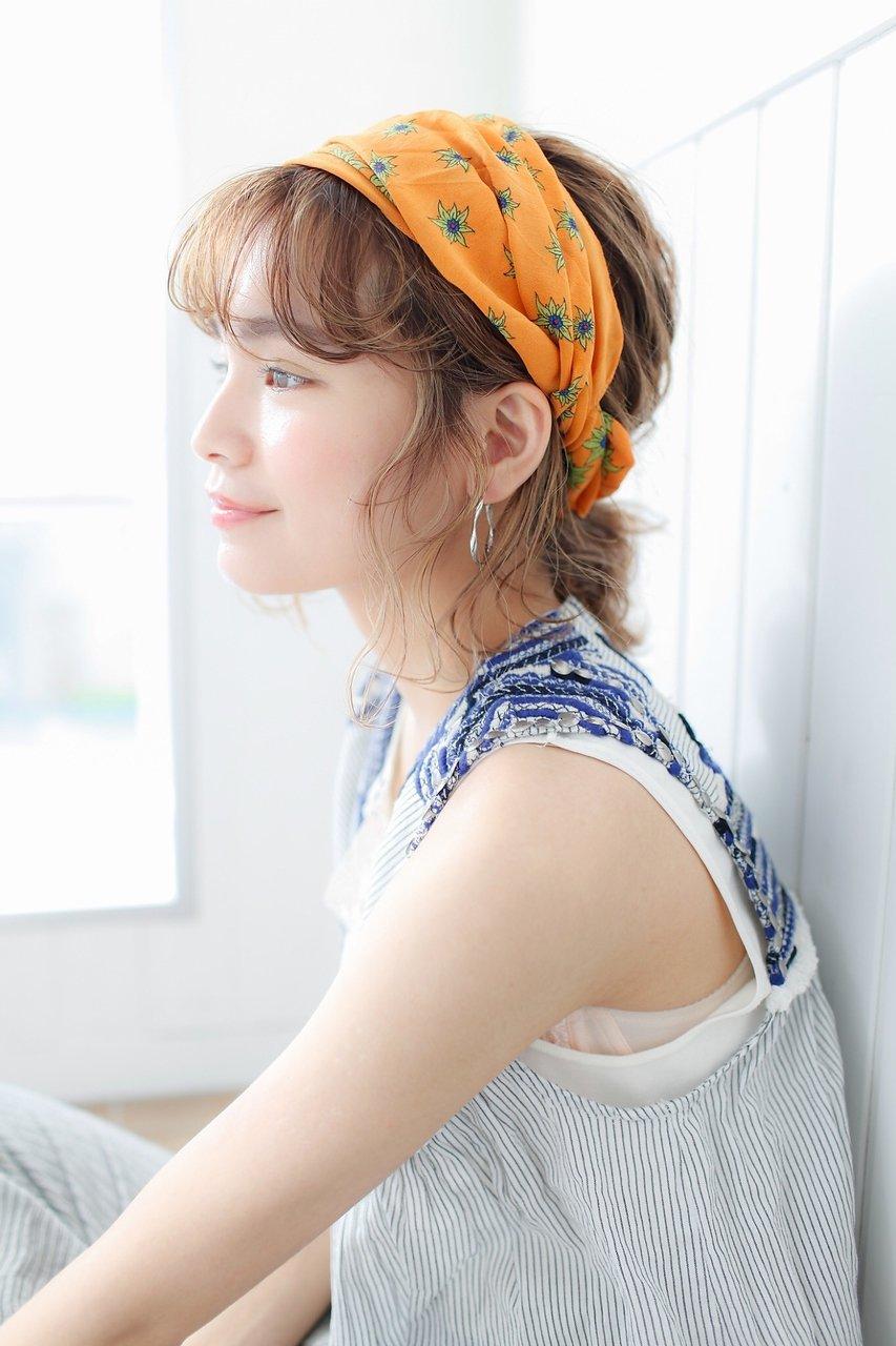 スカーフアレンジ  横浜美容室 浴衣ヘア