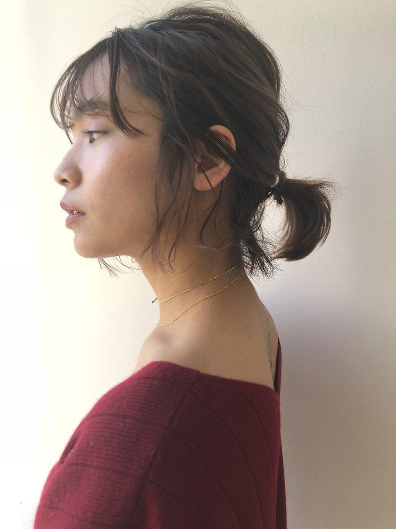 【GARDEN 田中麻由】後れ毛たっぷりローポーニーボブ