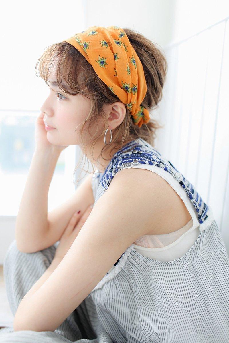 ボブヘアアレンジ スカーフアレンジ  横浜美容室