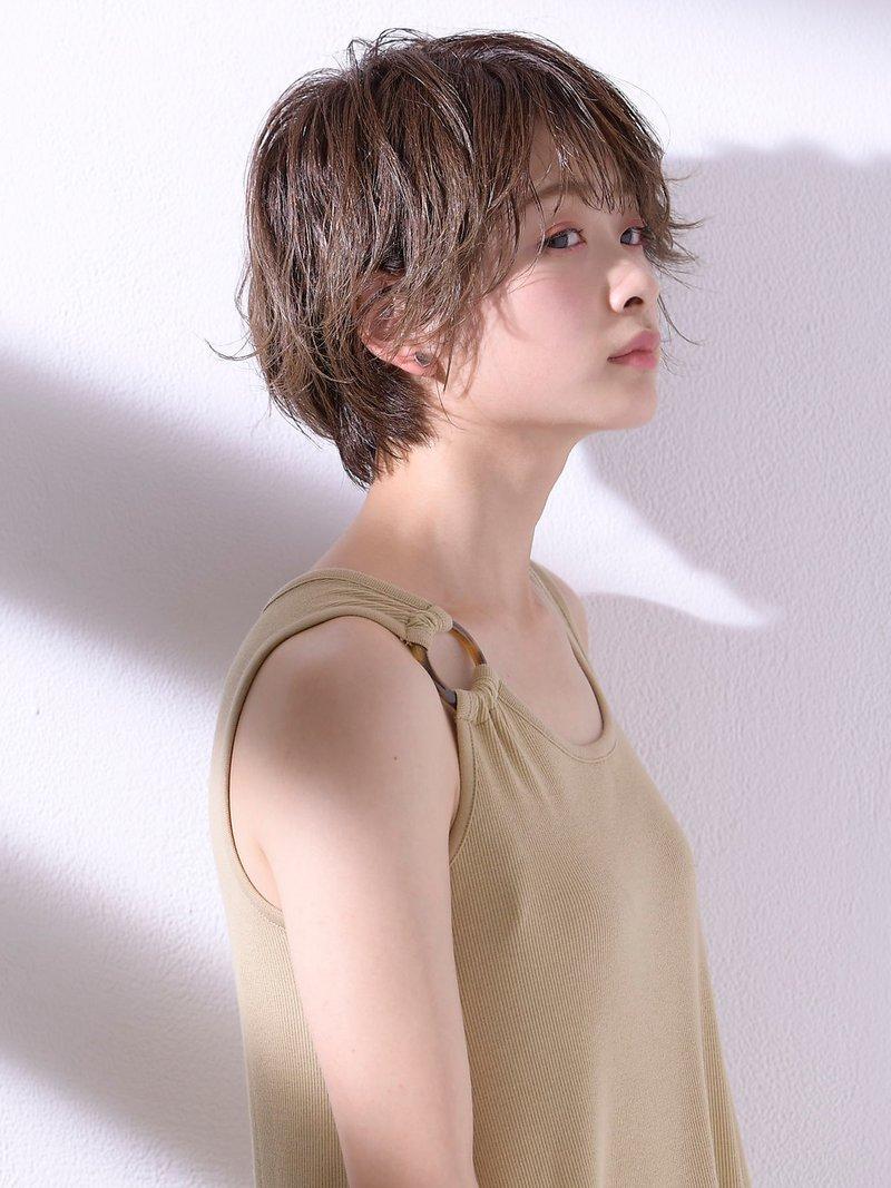 【田村】大人かわいい人気小顔丸みショートボブハンサムショート